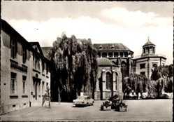 Postcard Kornelimünster Aachen in Nordrhein Westfalen, Der Markt mit Kirche