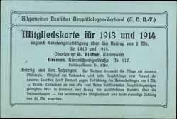 Postcard Hansestadt Bremen, Allgemeiner Dt. Neuphilologen Verband, Mitgliedskarte