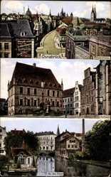 Postcard Osnabrück in Niedersachsen, Möserstraße, Rathaus, An der Hase