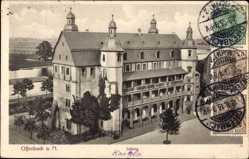 Postcard Offenbach am Main Hessen, Blick auf das Schloss mit Umgebung