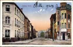 Postcard Jülich Nordrhein Westfalen, Haus Hermes u. Geschäft Peter Becker