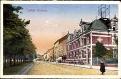 Postcard Jülich Kreis Düren, Blick in die Kölnstraße, Häuser, Passanten