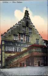 Postcard Lindau im Bodensee Schwaben, Das alte Rathaus mit Freitreppe