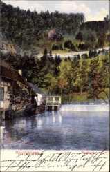 Postcard Blaubeuren Baden Württemberg, Blautopf, Wehr, Haus, Umgebung