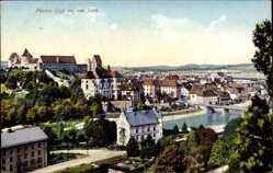 Postcard Füssen im schwäbischen Kreis Ostallgäu, Blick auf die Stadt, Purger 11748