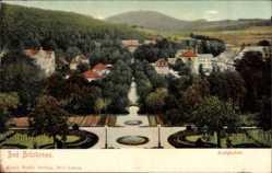 Postcard Bad Brückenau im Sinntal Unterfranken, Blick auf den Kurgarten