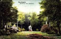 Postcard Neuruppin in Brandenburg, Partie im Stadtpark