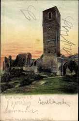 Postcard Königstein im Taunus Hessen, Blick auf die Ruine Königstein, Turm