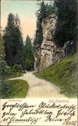 Postcard Elgersburg im Ilm Kreis Thüringen, Blick auf die Goethefelsen, Weg