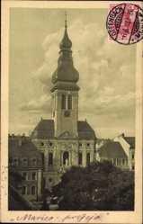 Postcard Offenbach am Main Hessen, Blick auf die St. Marienkirche, Glockenturm