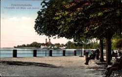 Postcard Friedrichshafen am Bodensee, Uferstraße mit Blick aufs Schloss