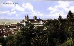 Postcard Weingarten im Kreis Ravensburg, Blick auf den Ort, Kirche, Häuser