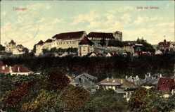 Postcard Tübingen am Neckar Baden Württemberg, Blick auf den Ort und das Schloss