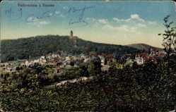 Postcard Falkenstein Königstein im Taunus Hessen, Blick auf den Ort, Turm