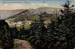 Postcard Oberreifenberg Schmitten im Hochtaunuskreis Hessen, Panorama, Ort, Wald