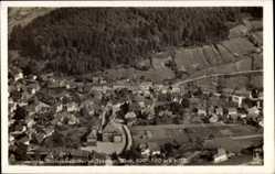 Postcard Kleinschmalkalden Floh Seligenthal, Fliegeraufnahme vom Ort