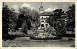 Postcard Philippsthal Werra Hessen, Partie am Schloss, Grünanlagen