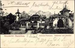 Postcard Düsseldorf am Rhein, Suldenthal und Zillerthal, Ausstellung