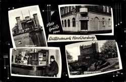 Postcard Henrichenburg Castrop Rauxel im Ruhrgebiet, Schachtschleuse, Lokal