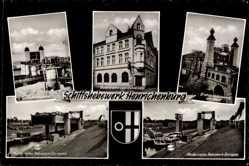 Postcard Henrichenburg Castrop Rauxel im Ruhrgebiet, Gaststätte zur Schleuse
