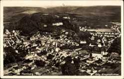 Postcard Homburg a.d. Saar, Fliegeraufnahme von Ort und Umgebung