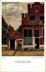 Künstler Ak Vermeer, Delft Südholland Niederlande, Little Street
