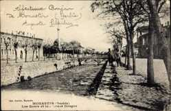 Postcard Monastir Bitola Mazedonien, Les Quais et la Rivière Dragor