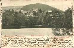 Postcard Bad Salzungen im Wartburgkreis, Blick vom Kurpark