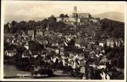 Postcard Königstein im Taunus, Gesamtansicht des Ortes, Burgruine