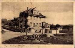 Postcard Schloßborn Glashütten Taunus, Jugendherberge, Seitenansicht
