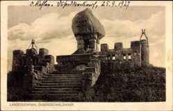 Postcard Epenwöhrden Schleswig Holstein, Landesdenkmal Dusenddüwelswarf