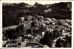 Postcard Oybin Sachsen, Blick auf den Scharfenstein vom Berg