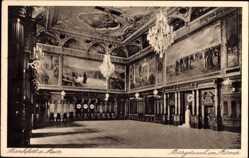 Postcard Frankfurt am Main, Bürgersaal im Börmer, Kronleuchter