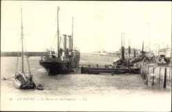 Postcard Le Havre Seine Maritime, Le Bateau de Southampton