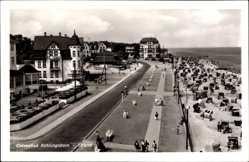 Postcard Ostseebad Kühlungsborn im Kreis Rostock, Strand, Cafe mit Terrasse