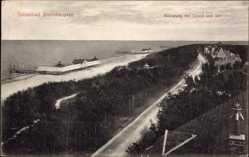 Postcard Brunshaupten Kühlungsborn im Kreis Rostock, Bülowweg mit Strand und See