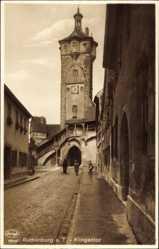 Postcard Rothenburg ob der Tauber Mittelfranken, Partie am Klingentor