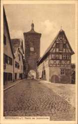 Postcard Rothenburg ob der Tauber Mittelfranken, Partie am Siebersturm