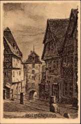 Künstler Ak Rothenburg ob der Tauber Mittelfranken, Plönlein