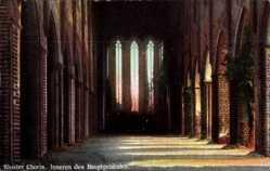Postcard Chorin im Kreis Barnim, Innenansicht des Hauptgebäudes