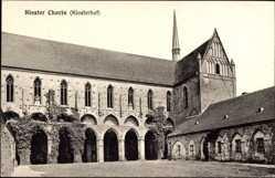 Postcard Chorin im Kreis Barnim, Blick in den Klosterhof des Klosters