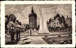 Künstler Ak Mannheim in Baden Württemberg, Friedrichsplatz mit Wasserturm
