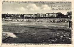 Postcard Zinnowitz auf der Insel Usedom, Ostseebad, Blick auf den Strand