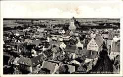 Postcard Greifswald in Mecklenburg Vorpommern, Blick auf die Marienkirche