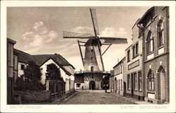 Postcard Xanten am Niederrhein, Bruckstraße, Windmühle, Gebäude