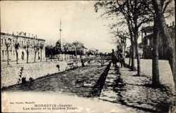 Postcard Monastir Bitola Mazedonien, Les Quais et la Rivière Drago