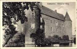Postcard Eschweiler in Nordrhein Westfalen, Röthgener Burg, Wasserburg