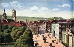 Postcard Stuttgart in Baden Württemberg, Handelshof und Königstraße