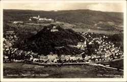 Postcard Donaustauf am Bayerischen Wald, Fliegeraufnahme vom Ort mit Heilstätte