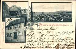 Postcard Wald Michelbach Odenwald, Gasthaus z. Deutschen Haus